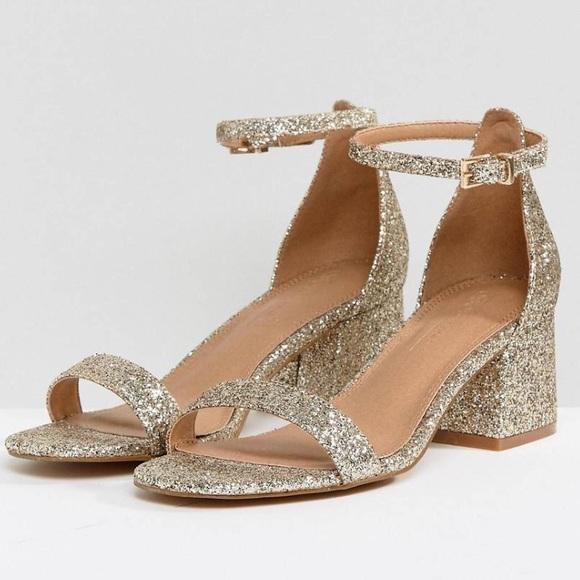 627083d68879 ASOS Shoes | Glitter Heeled Sandals | Poshmark